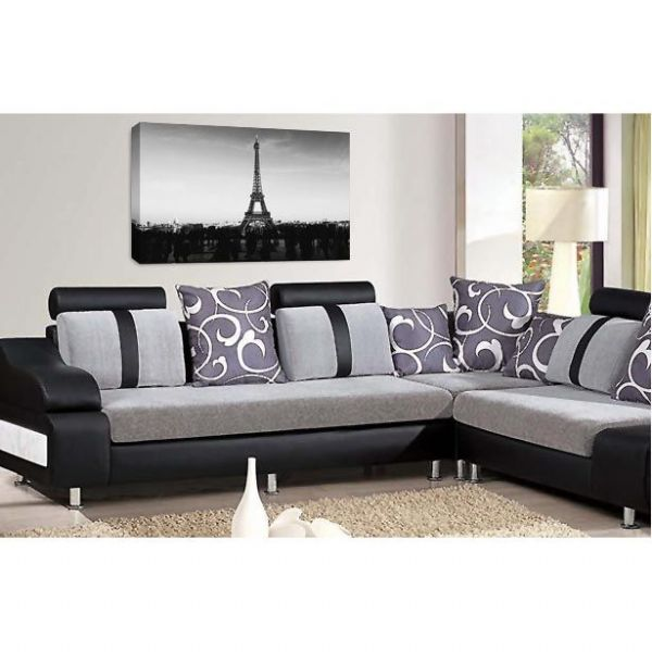 Eiffel Tower Wall Art Print Paris France Night Time City Picture